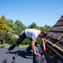 Flat roof felting